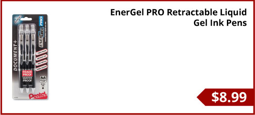 EnerGel PRO Retractable Liquid Gel Ink Pens