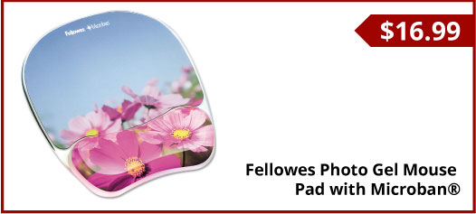 Fellowes Photo Gel Mouse Pad with Microban®