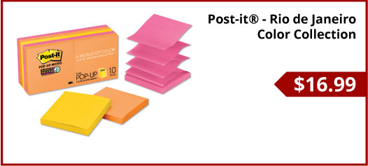 Post-it® - Rio de Janeiro Color Collection