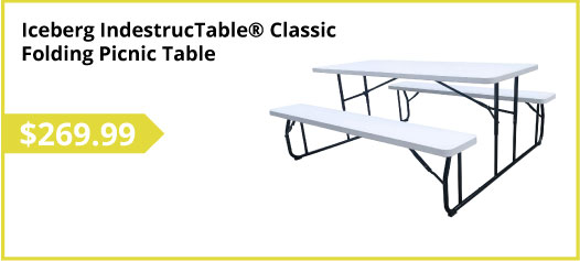 Iceberg IndestrucTable® Classic Folding Picnic Table