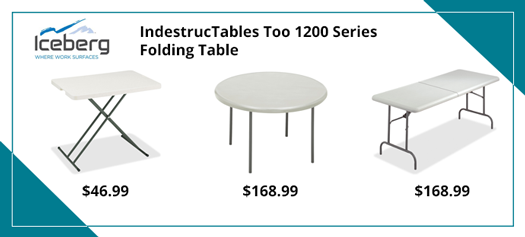 Iceberg 1200 Series Personal Folding Table