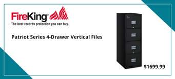 FireKing Patriot Series 4-Drawer Vertical Files