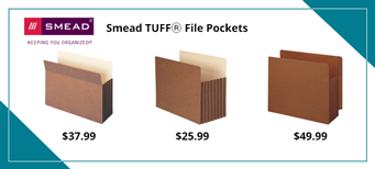 Smead File Pockets and Top Tab Folders